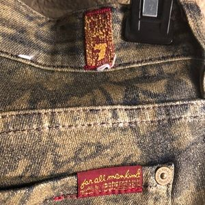 7 For All Mankind Jeans - Jeans  dark wash and gold